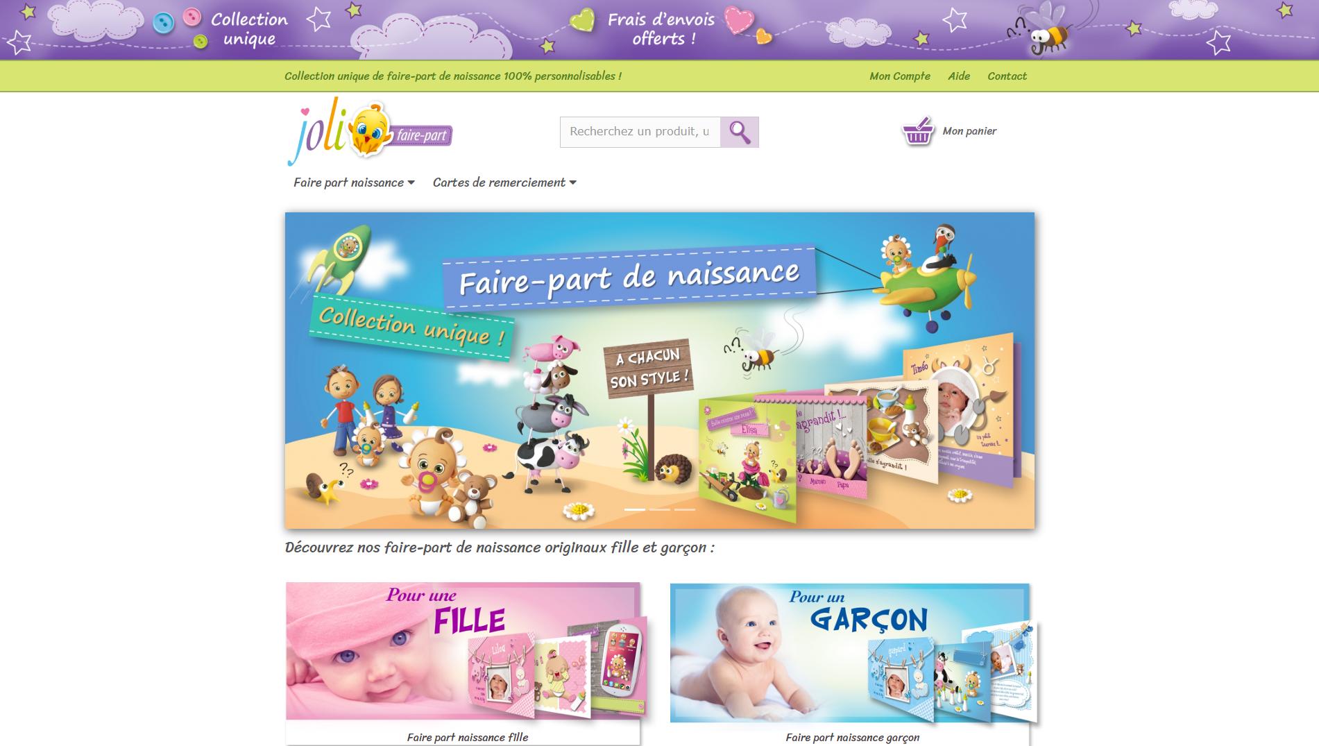 Audacieuse Joli Faire Part faire-part de naissance original et personnalisable OT-04